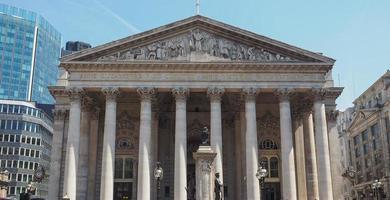 bolsa de valores real em Londres foto