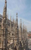 detalhe da catedral de milão, itália foto