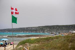 es calo de sant agusti vila de pescadores na ilha de formentera foto