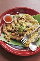 omelete de ostra e molho apimentado ao estilo chinês foto