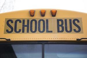 escola amarela americana de perto foto