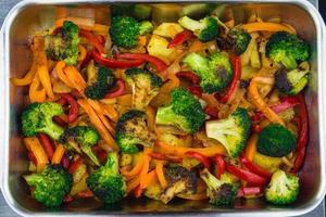 vegetais grelhados no forno foto