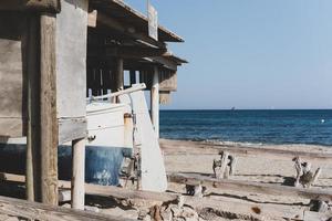 docas dos pescadores praia migjorn em formentera na espanha foto