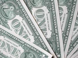 notas de dólar 1 dólar foto