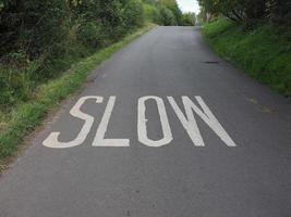 sinal de baixa velocidade foto