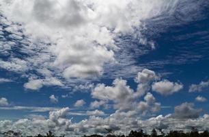 paisagem de nuvem tropical foto