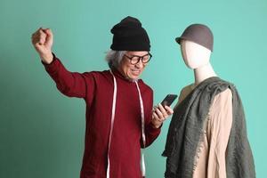 designer de moda asiática foto
