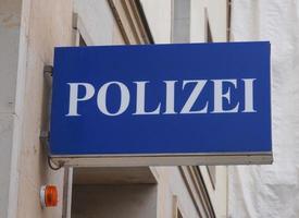 placa da polícia polizai foto