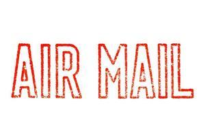 selo de correio aéreo isolado foto