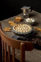a deliciosa composição da sobremesa mores foto