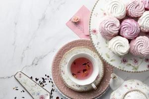 a elegante composição da festa do chá foto