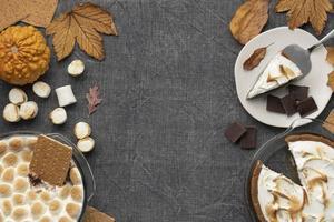 saborosos mores sobremesa mesa arranjo foto