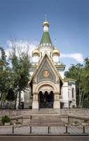 famoso ponto turístico da igreja ortodoxa russa no centro da cidade de sofia, bulgária foto