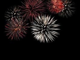 fogos de artifício no céu noturno foto