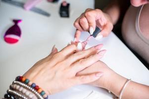 decorações de unhas com gel uv especial foto
