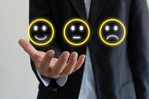 avaliações do cliente e satisfação com o serviço foto