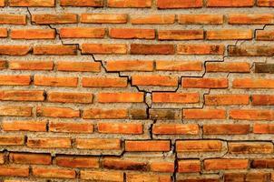 parede de tijolo e fundo de tijolo, textura vintage de parede de tijolo. foto