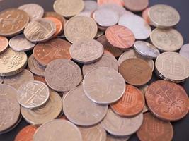 moeda de libra britânica foto