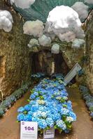 festival da flor em girona temps de flors, espanha. 2018 foto
