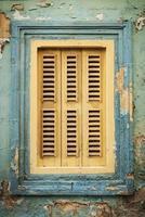 detalhe de arquitetura de janela de casa tradicional na cidade velha de La Valletta em Malta foto