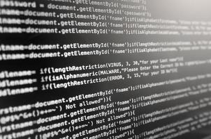 código-fonte do desktop e papel de parede por codificação e programação. foto