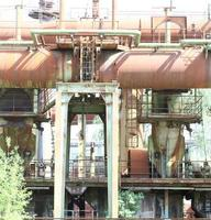 área industrial abandonada da antiga fábrica landschaftpark duisburg nord foto