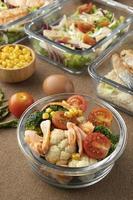 vista de cima, nutrição, alimentação, refeição, planejamento foto