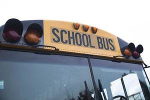ônibus escolar americano foto
