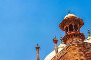 taj mahal agra india grande portão vermelho incrível arquitetura detalhada. foto