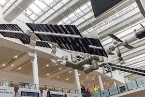 bremen, alemanha, 2021 - decoração de teto no aeroporto de bremen foto