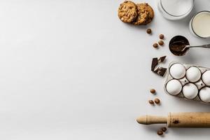 copie cookies de ingredientes de espaço. resolução e bela foto de alta qualidade