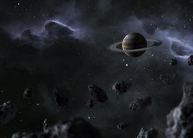 Visão noturna da galáxia 3. resolução e bela foto de alta qualidade