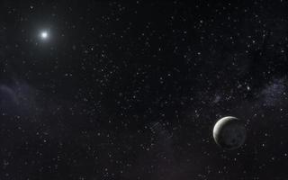 paisagem noturna da galáxia 2. resolução e bela foto de alta qualidade