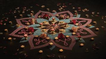 tradição das luzes do festival de Diwali. resolução e bela foto de alta qualidade