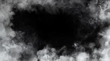 fumaça da moldura no preto foto