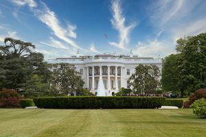 a casa branca em washington dc foto