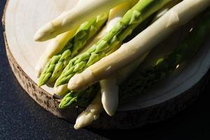aspargo officinalis um vegetal saisonal foto