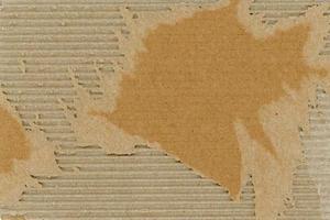 fundo de textura de papelão ondulado marrom grunge foto