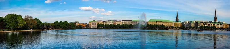 Lago Alster Interior em Hamburgo foto
