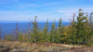 Ilha do Lago Baikal Olkhon em um dia ensolarado, Irkutsk, Rússia foto