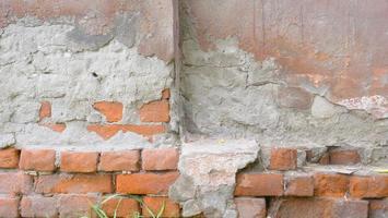 imagem de fundo de textura de tijolo vermelho de concreto vintage retrô foto