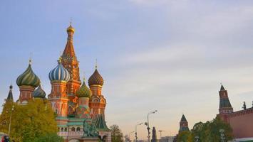 st. catedral do manjericão na praça vermelha de moscou kremlin, rússia foto