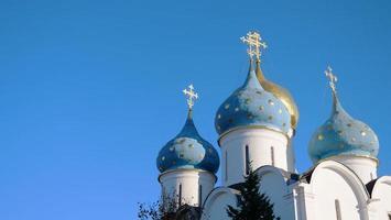 trinity sergius lavra em sergiev posad na rússia de moscou foto