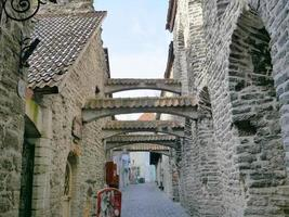 arquitetura centro histórico cidade velha de tallinn, estônia foto
