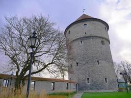 torre de artilharia de seis andares no centro histórico de tallinn, estônia foto