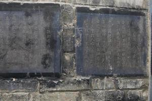 tabletes de pedra de caligrafia no museu xian forest of stone steles, china foto