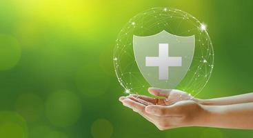 seguro de vida familiar, seguro de assistência médica e negócios saudáveis. foto