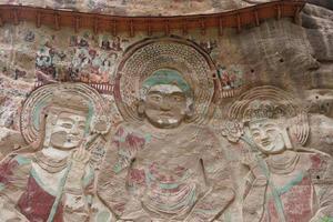 relevo da gruta do templo la shao em tianshui wushan china foto
