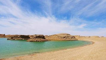 parque geológico dachaidan wusute water yadan em qinghai china foto