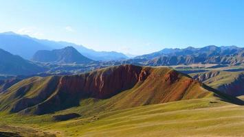 a área cênica da montanha de qilian, monte drow, na china de qinghai. foto